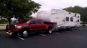 Dodge Ram 3500 Weight - 06 dodge dually 5 9 towing a 40 foot toy hauler youtube