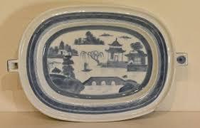 canton porcelain canton porcelain hot water dish 19th c item 1373990
