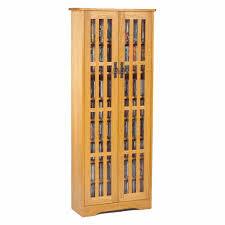leslie dame media storage cabinet leslie dame mission style multimedia storage cabinet oak m 477 oak