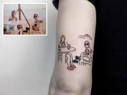 this artist turns your most nostalgic pics into stylish tattoos
