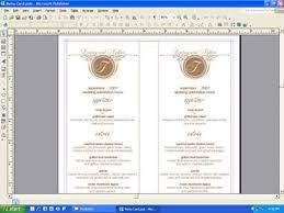 diy wedding menu cards menus posts page 4