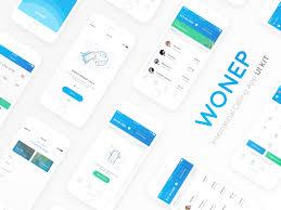 wonep international calling app ui kit sketch freebie download