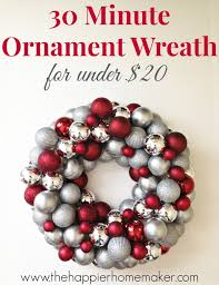christmas wreaths to make how to make an easy diy ornament wreath the happier homemaker