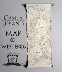 Map Of Essos Game Of Thrones Map Westeros Map Poster On Handmade Scroll Got