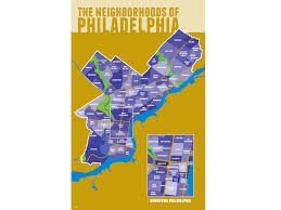 Philadelphia Neighborhood Map Jon Kostesich Art Direction U0026 Design