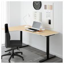 Computer Corner Desk Ikea Bekant Corner Desk Left Sit Stand Black Brown White Ikea