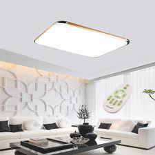 48w flush mount led pendant light ceiling lamp bedroom gold