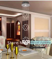 1 pcs dining room pendant crystal lamp extra long hanging light