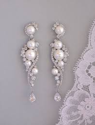 silver dangle earrings for prom best 25 pearl earrings wedding ideas on pearl pearl
