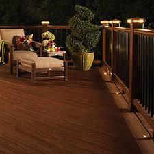 trex post cap lights deck lighting niece lumber