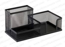 Black Mesh Desk Organizer Deluxe Metal Mesh Desktop Organizer Black Office Supplies Duba