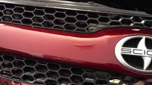 scion xa upper grill block for improved fuel economy youtube
