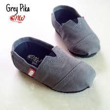 Jual Sepatu Wakai jual sepatu wakai anak casual slip on onw kidz grey pika di