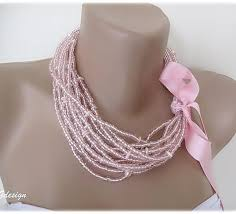 bead necklace pink images Bridal pink seed bead necklace chic selections shop jpg