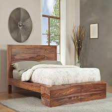Handcrafted Wood Bedroom Furniture - country blends with upscale design to create this rustic wood