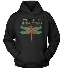 Zen Inspired We Rise By Lifting Others Dragonfly And Quote Awesome