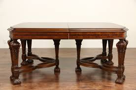 Antique Dining Room Tables Sold Renaissance Carved 1920 Banded Dining Table Without Chairs