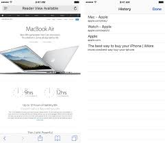 view and clear your browsing history in safari on iphone or