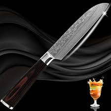 laser kitchen knives xyj brand stainless steel knife 5 inch santoku kitchen knife laser
