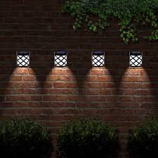 Solar Lights Fence - details about solar powered outdoor garden shed door fence wall 6