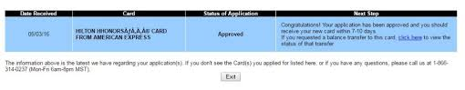 check amex card application status reconsideration line