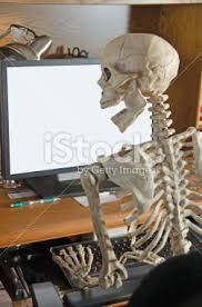 Skeleton Computer Meme - skeleton on the computer stock photography know your meme