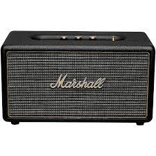 Dorm Room Sound System Marshall Stanmore Wireless Bluetooth Stereo Speaker System Black