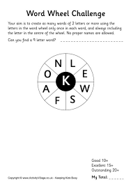 word wheel puzzles for
