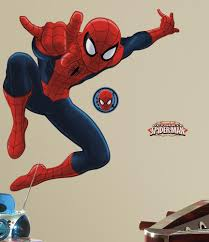 roommates rmk1796gm ultimate spiderman peel and stick giant wall from the manufacturer spiderman wall decals