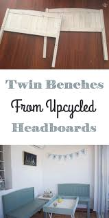 how to make twin benches from upcycled headboards how to make twin benches out of two headboards via www sweethings net