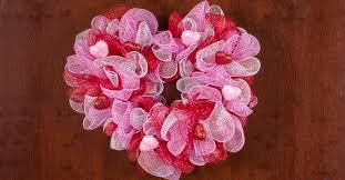heart wreath s day deco mesh heart wreath the dollar tree