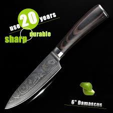 couteau de cuisine chinois haoye 6 pouces chef couteau de cuisine damas couteaux japonais haut