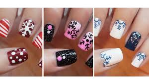 snowflake nail art three easy designs youtube