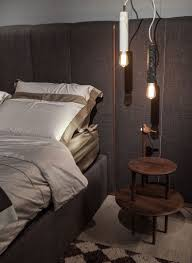 large headboard design cool pendant lights above side