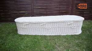 wicker coffin handmade youtube