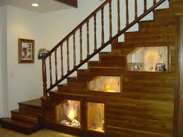 interior furniture beautiful design under stair storage shelves