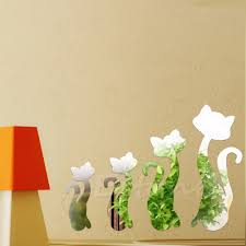 Decoration Cat Wall Decals Home by Popular Wall Stickers Cat Mirror Buy Cheap Wall Stickers Cat