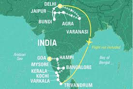 Agra India Map by Big India India Tours Geckos Adventures Us