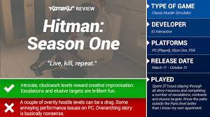 best black friday deals 2016 kotaku hitman season one the kotaku review kotaku uk