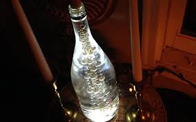 Upcycled Wine Bottles - upcycled wine bottles into table lamps your house a home