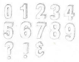 gips drawing sketch graffiti alphabet and numbers