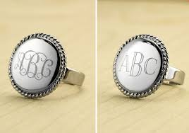 Monogramed Rings Monogrammed Archives Living Chic On The Cheap