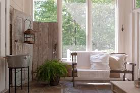 rustic door stops sunroom shabby chic style with tile floor large