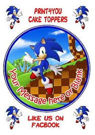 sonic the hedgehog cake topper sonic cake topper ebay
