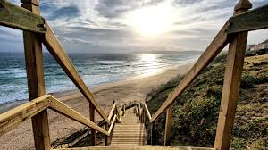 stairs tag wallpapers beach ocean beautiful walks sun perspective