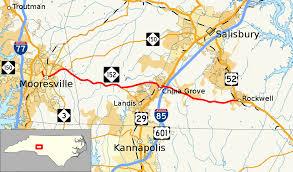 Rowan Map North Carolina Highway 152 Wikipedia