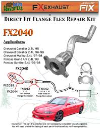 fx2040 semi direct fit exhaust flange repair flex pipe replacement