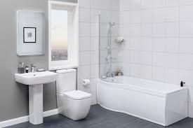 P Shaped Shower Bath Suites Luxury Bathroom Suite With Left Hand P Shape Shower Bath Basin