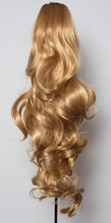 4 Piece Clip In Hair Extensions by Ponytail Claw Clip In On Hair Piece Extension Dark Blonde