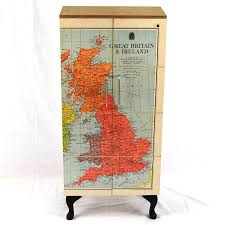objects of design 117 vintage map cupboard mad about the house